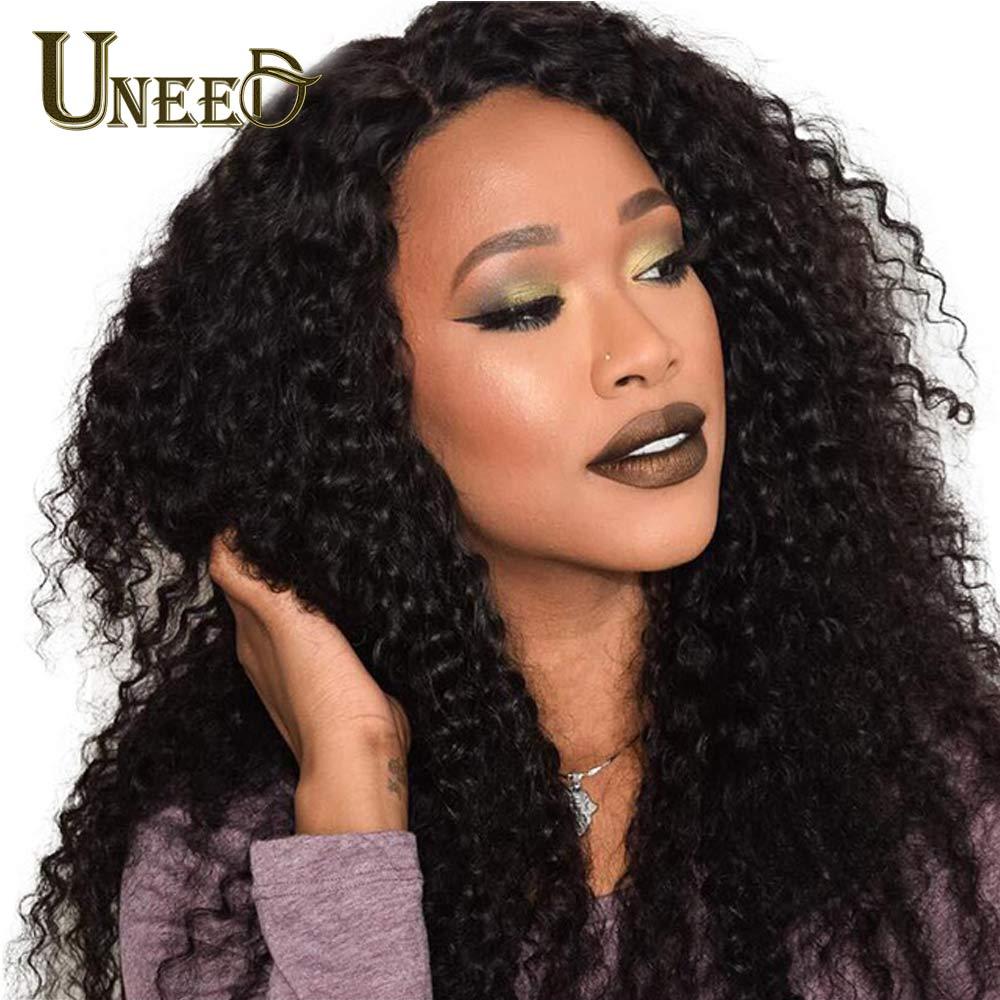 Uneed Hair Malaysian kinky Curly Hair 1 Bundle 100% Human Hair Weave Bundles Remy Hair Weaving Can Buy 3 or 4 Bundles No Tangle