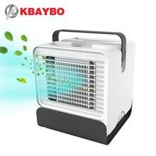 цены на KBAYBO USB Air Conditioning Fan wind natural usb ventilator Air Cooler Mini  portable fans with 7 Colors LED light for Home room  в интернет-магазинах