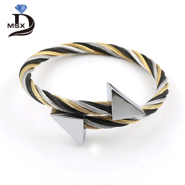 MSX 4 Color Classical High Quality Triangle Stainless Steel Punk ...