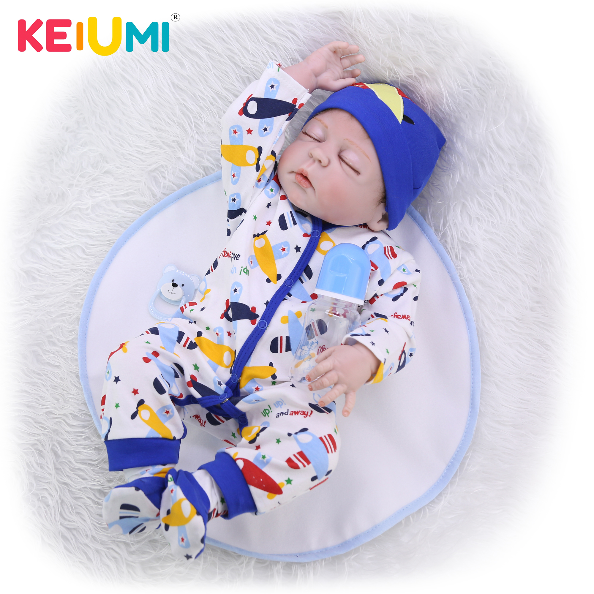 23'' 57 cm Limited Collection Reborn Dolls Whole Silicone Vinyl Realistic Sleeping Boy Baby Doll Toy For Child Birthday Gift-in Dolls from Toys & Hobbies    1