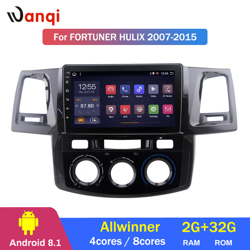 2G RAM 32G ROM Android 8.1 car gps multimedia video radio player for Toyota 2007-2015 fortuner hulix navigation2G RAM 32G ROM Android 8.1 car gps multimedia video radio player for Toyota 2007-2015 fortuner hulix navigation