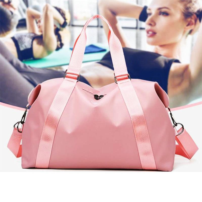 Sport Bag For Women Pink Men Gym Nylon Storage Bag Waterproof Travel Duffel Bag Shoulder Carry On Handbag For Fitness  Gym Sack