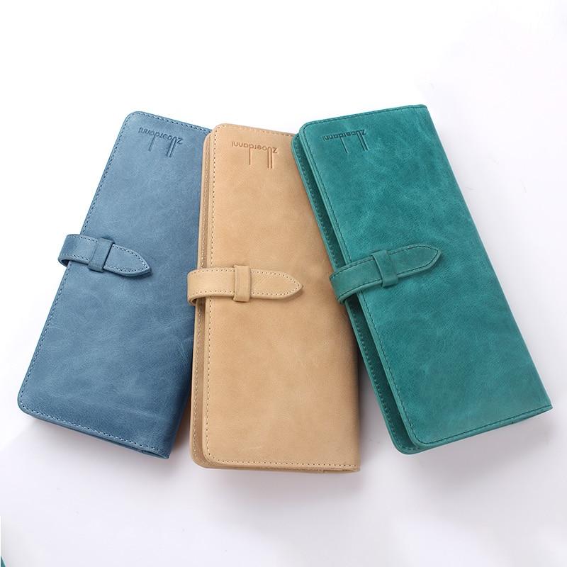 Купить с кэшбэком Large Capacity Men business card holder Genuine Leather women Credit Card Case Colorful Bank/ID Card Bag Fashion A74C