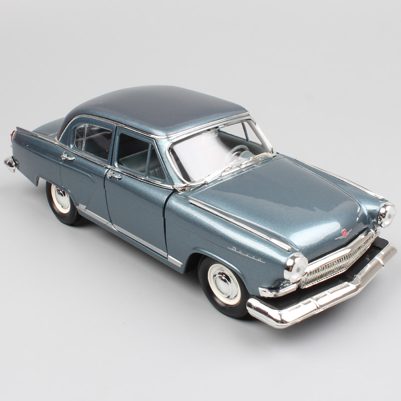 1:24 Scale Road Signature Russia Soviet Gorky GAZ-21 GAZ M21 Volga 1970 Saloon Wagon Metal Diecast Vehicle Model Car Toy Replica