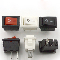 1000pcs 2 Pin Unipolar Ship Type Rocker Switch Table Lamp Small Power Switch Red White And