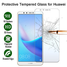 For Huawei Y6 Y9 2019 Protective Glass for Huawei Y9 Y7 Pro Y5 Prime HD Toughed Screen Protector for Huawei Y6 2018 P6 On Movie(China)