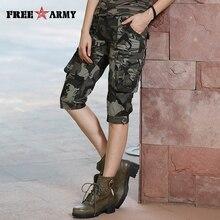 High Quality Fashion Camo Shorts Models Feminino Pantalones Cortos Mujer Summer Women Camouflage Knee Length Shorts Gk 9388