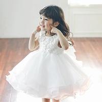 Newborn Baby Girl Dress For Baptism Layered Tulle First Birthday Party Wear Flower Toddler Girl Christening Gown Infant Vestidos