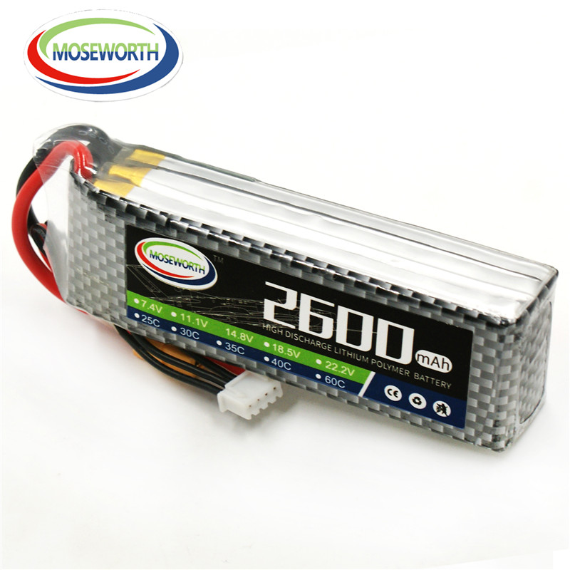 MOSEWORTH RC Drone lipo battery 14.8v 2600mAh 40C For RC airplane quadcopter helicopter boat car batteria cell free shipping skyrc helicopter optical tachometer 3d glass screen 5 presets of flashing frequency rpm for airplane quadcopter free shippi toys
