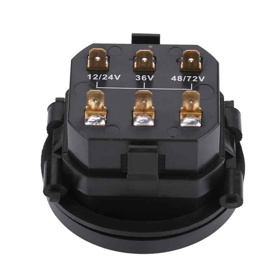 12v 24v 36v 48v 72v led digital battery indicator gauge with hour  [ 950 x 950 Pixel ]