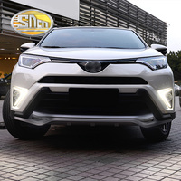 SNCN 2PCS LED Daytime Running Light For Toyota RAV4 2016 2017 2018 Car Accessories Waterproof ABS 12V DRL Fog Lamp Decoration