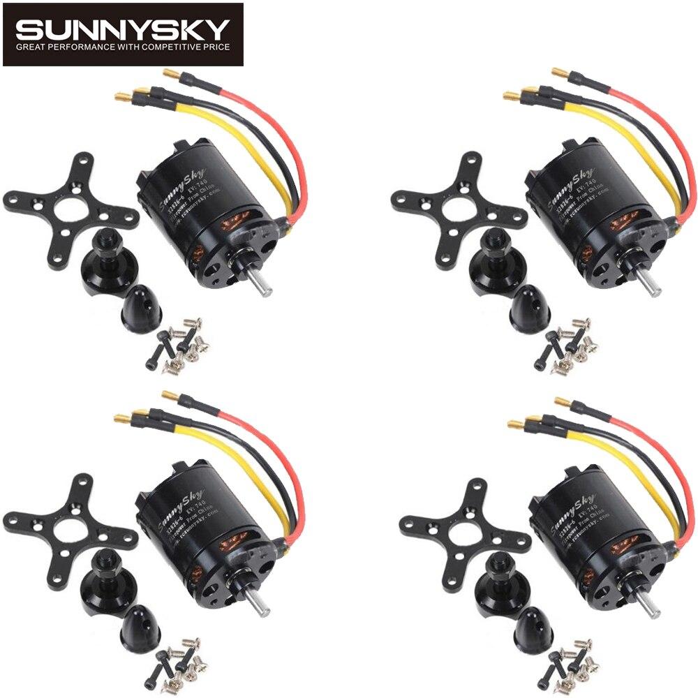 4pcs/lot Original SunnySky X2826 550KV 740KV 880KV 1080KV Outrunner External Rotor Brushless Motor for RC Helicopter 4set lot original sunnysky x2206s 2100kv 2380kv outrunner brushless motor cw ccw x2206s for qav250 330 rc multicopter