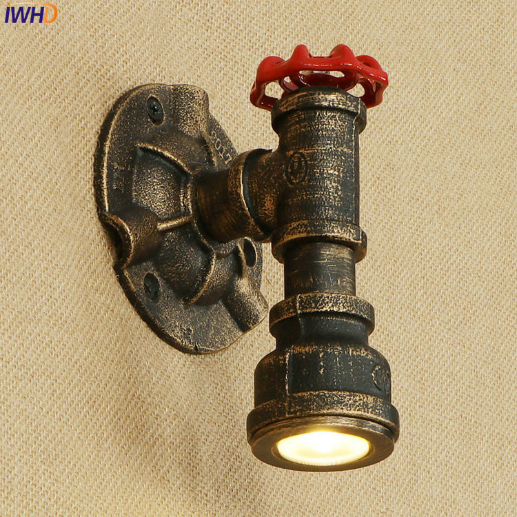 Iwhd Water Pipe Retro Vintage Ceiling Light Fixtures: Aliexpress.com : Buy IWHD LED Nordic Loft Wall Lamp Iron