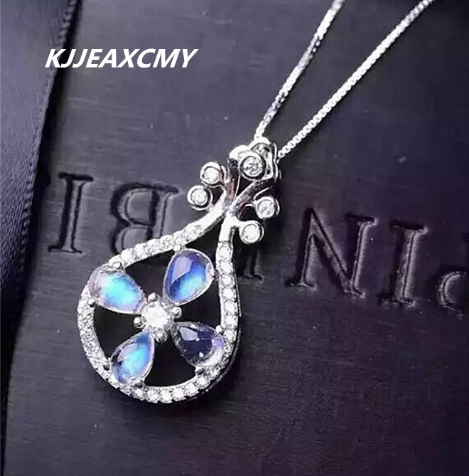 KJJEAXCMY boutique jewelry,Natural blue moonlight Gemstone Pendant pendant jewelry wholesale S925 Sterling Silver femaleKJJEAXCMY boutique jewelry,Natural blue moonlight Gemstone Pendant pendant jewelry wholesale S925 Sterling Silver female