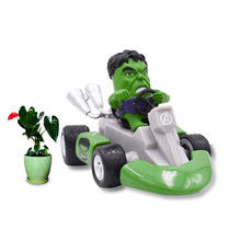 Western Animiation Kart Pull Back Car Hulk Robert Bruce Banner PVC Action Figure Doll Collectible Model Baby Toy Christmas Gift kung fu star bruce lee doll pvc action figure collectible model toy 26cm