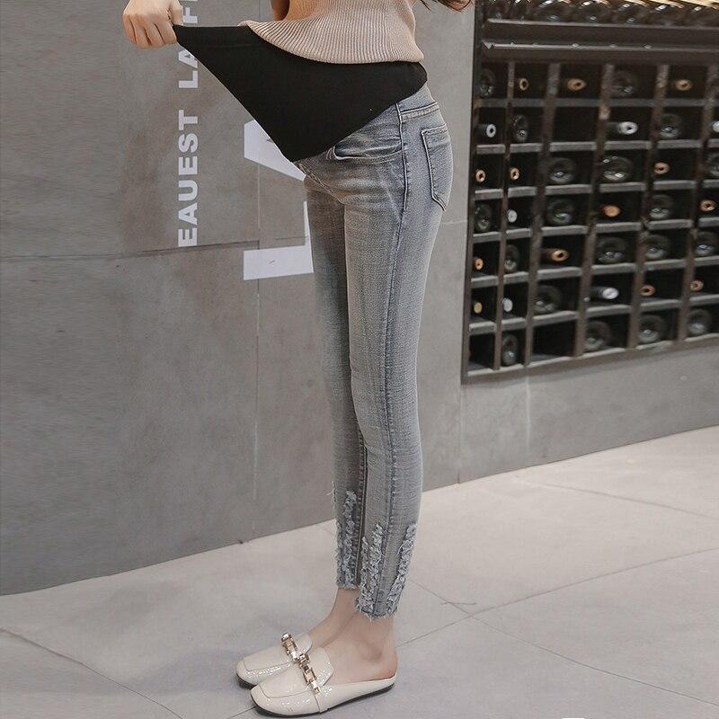 69162edee4c5a Pengpious wholesale price autumn jeans for pregnant women adjustable waist  empire skinny pencil denim pants maternity trousers ~ Best Seller June 2019