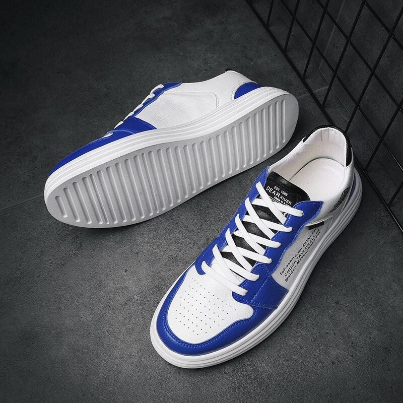 Haute qualité hommes chaussures vulcanisées nouveauté mode hommes chaussures loisirs appartements chaussures à la mode PU respirant baskets - 3
