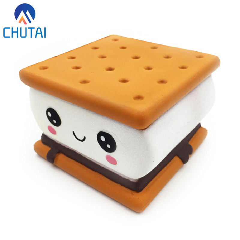 2019 New Fashion Cartoon Chocolate Biscuit Squishies PU Squishy Slow Rising Cream Scented Original Package Kids Toy Xmas Gift