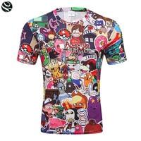 3D Pokemon Pikachu T Shirt For Men Women T Shirts Fashion Summer Casual Tees Tops Anime