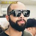 De alta Qualidade Da Marca de Luxo Designer Óculos de Sol Dos Homens de Gordura Superior Dos Óculos De Sol Mulheres kim kardashian Retro Espelho de Duas cores Tons de Fronteira