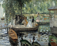 Bathers At La Grenouillere By Claude Monet Canvas Painting Print Custom For Living Room Art