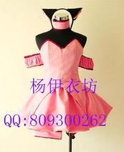Tokyo Mew Mew Ichigo (Transfiguration) Momomiyaคอสเพลย์เครื่องแต่งกายที่กำหนดเอง