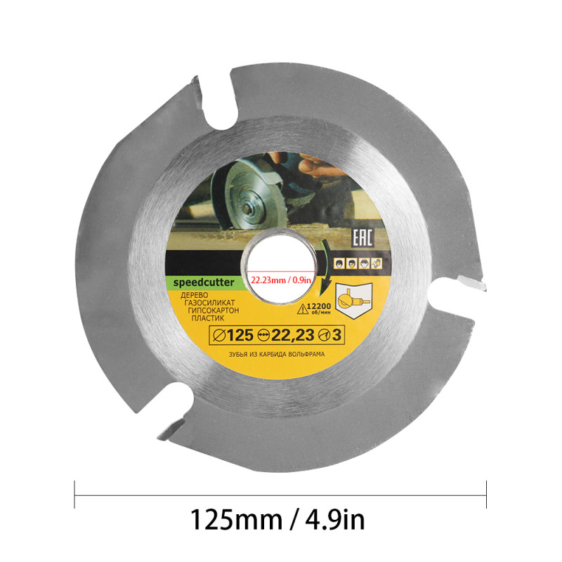 125mm 3T Circular Saw Blade Multitool Grinder Saw Disc Carbide Tipped Wood Cutting Disc Carving Disc Blades For Angle Grinders