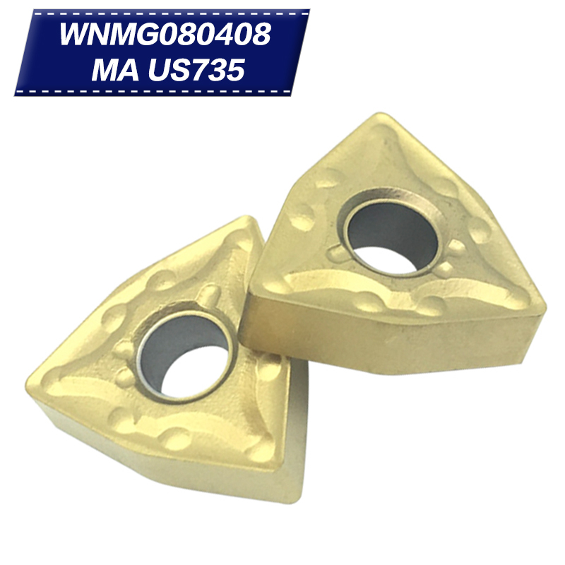 50pcs WNMG080408 MA US735 utensili per tornitura esterna inserti in - Macchine utensili e accessori - Fotografia 1