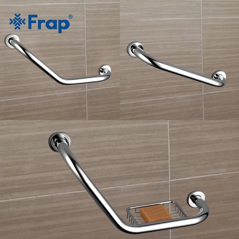 Frap New Bathroom Bathtub Arm Safety Handle Grip Bath Shower Tub Grab Bar Stainless Steel Anti Slip Handle Grap Bar F1717/18/19