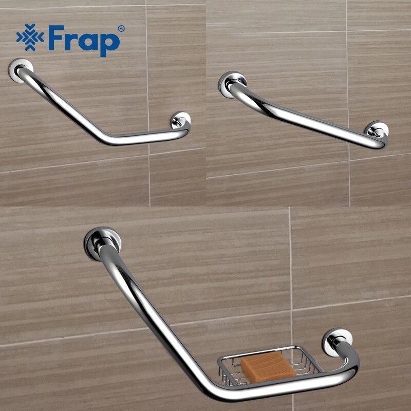 Frap new Bathroom Bathtub Arm Safety Handle Grip Bath Shower Tub Grab Bar Stainless Steel Anti Slip Handle Grap Bar F1719/18/19