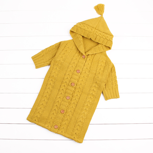 Warm Knit Baby Sleeping Bags With Sleeves