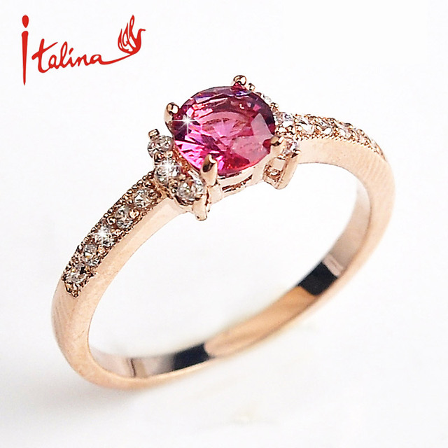 Created  wedding Rings for women Austria Crystals Rose gold color Zircon Jewelry rings female Anel bijoux top quality