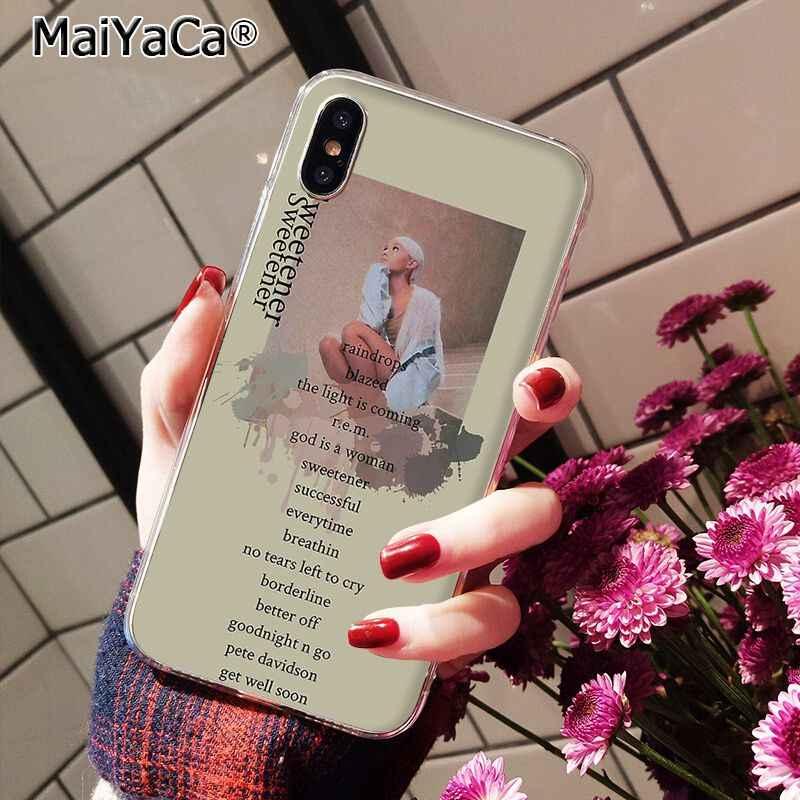 MaiYaCa Ariana Grande พระเจ้าเป็นกรณีผู้หญิงสำหรับ iphone 11 Pro 11Pro MAX X XS MAX 6 6s 7 7plus 8 8Plus 5 5S SE XR 10