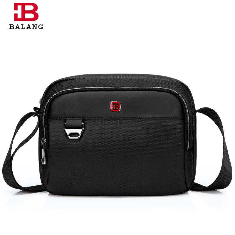 2017 New Brand BALANG Men Business Messenger Bags Black Waterproof 1680 D Oxford Material Casual Male Cross Body Shoulder Bags