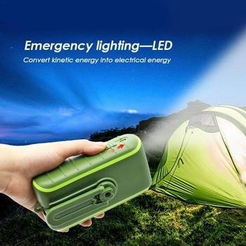 Hand Dynamo & Solar Energy Travel USB Charger portable external battery 6000mAh 8000mAh Power bank Manual Power Generation 2