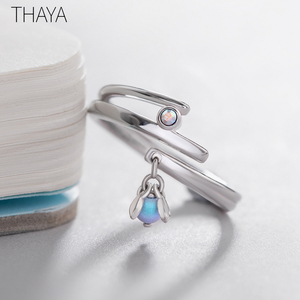 Image 4 - Thaya Midsummer Nights Dream Design Rings Vintage Colored Pearls S925 Sterling Silver Jewelry Ring For Women