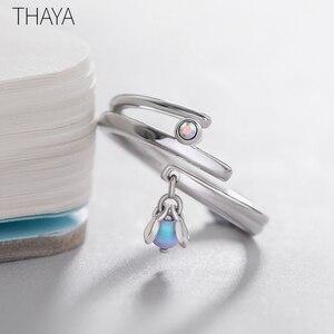Image 4 - Thaya Sommernachtstraum Design Ringe Vintage Farbige Perlen S925 Sterling Silber Schmuck Ring Für Frauen