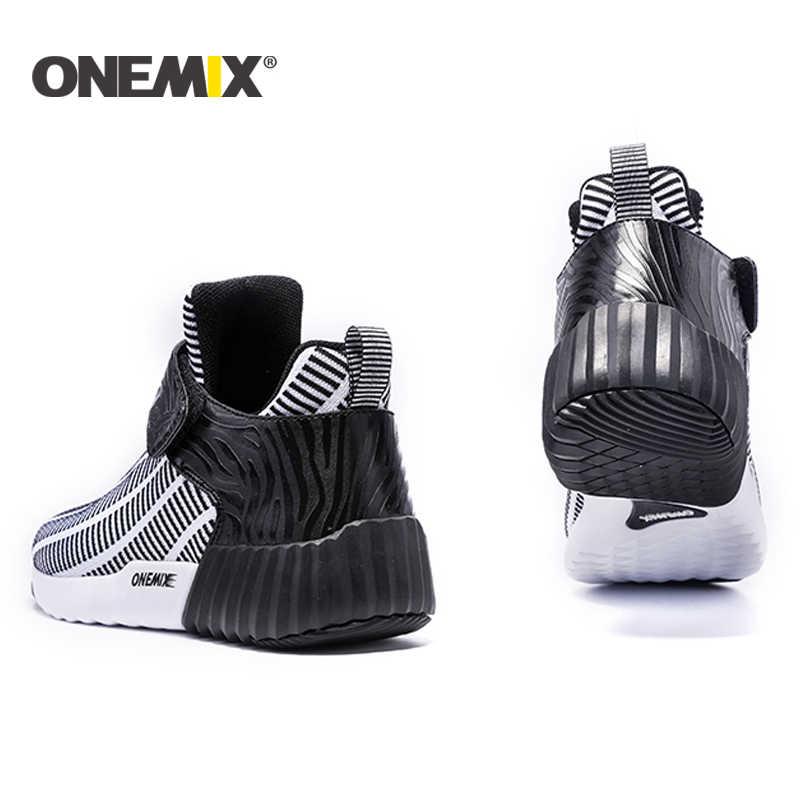 ONEMIX جديد الشتاء احذية الجري الدافئة الارتفاع زيادة أحذية الشتاء الرجال والنساء أحذية رياضية في الهواء الطلق للجنسين أحذية رياضية