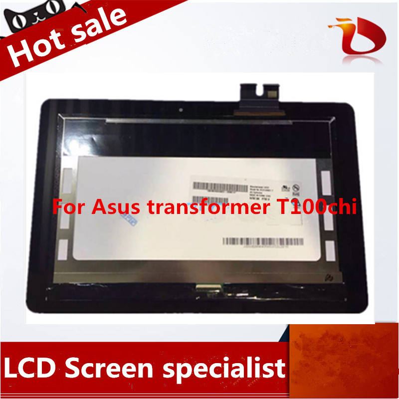 High quality 10.1'' LCD Display with Touch Screen LCD Assembly For Asus transformer T100chi high quality lcd display touch screen