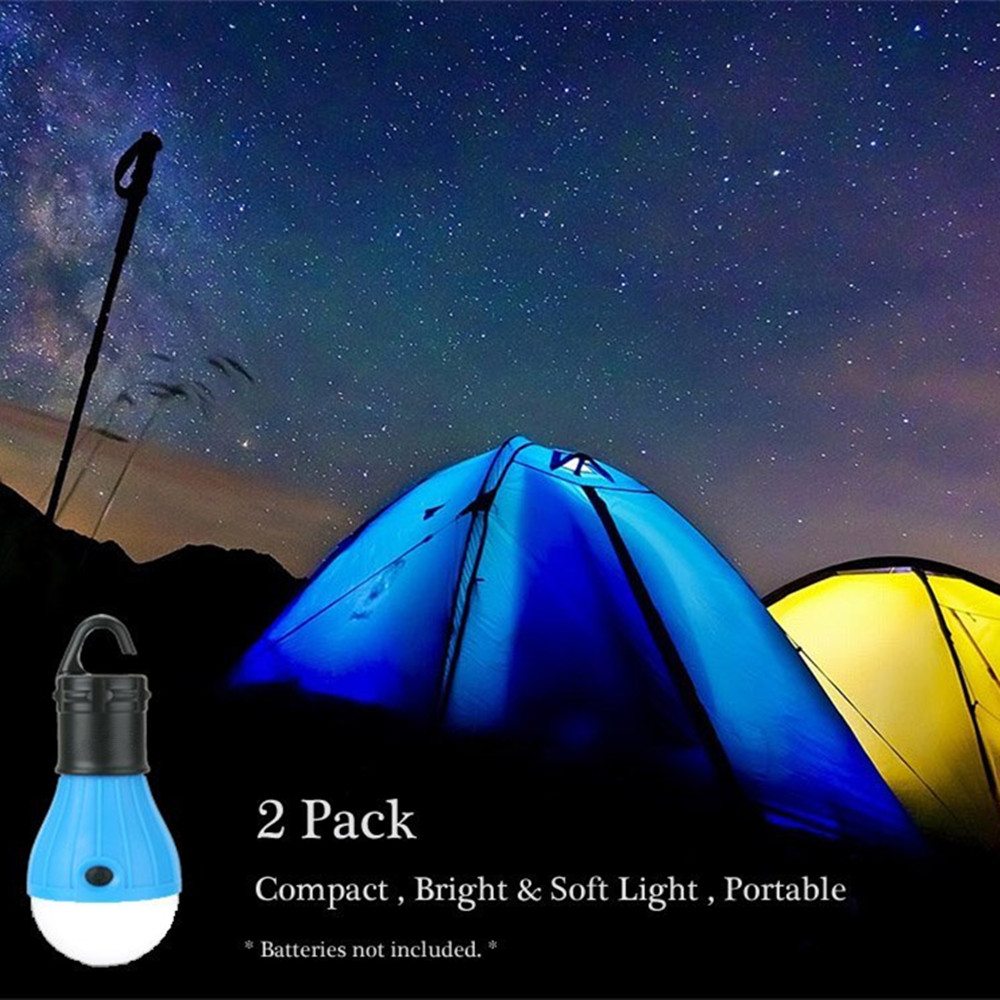 (2PCS) LED Tent Lamp Hurricane Emergency Tent Light Backpacking Hiking Fishing & Outdoor Lighting Bug Out Bag Camping Equipment