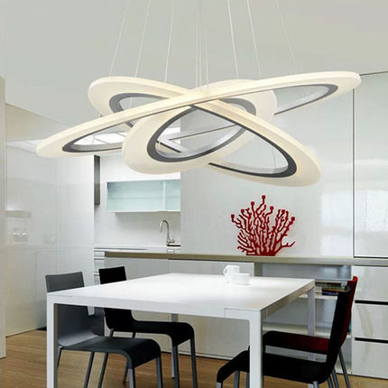 Creative Circle Acrylic Droplight Moderne LED Pendant Light Fixtures - Indendørs belysning