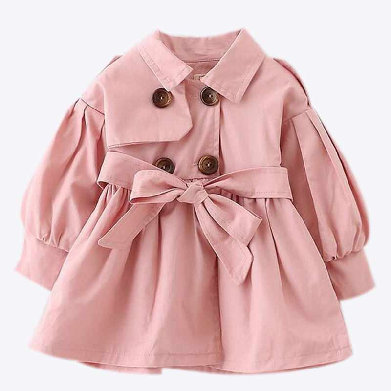 Baby Jacket Casaco Infantil Girl Baby Coat Spring Baby Jas Trench Double Breast Windbreaker for Girl Kids Jacket For 1-4T
