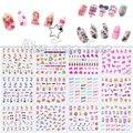 1 шт. 12 Листов/Lot Большой Nail Art Переноса Воды Воды Наклейка наклейки Советы Барби Кукла Высокий Каблук Помада Девчушки Розовый Шик ногти