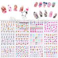 1pcs 12 Sheets/Lot Large Nail Art Water Transfer Water Decal Stickers Tips Barbi Doll High Heel Lipstick Girly Pink Chic Nails