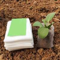 100 шт./лот биоразлагаемые семя мешки для питомника питомник цветочные горшки овощей трансплантации разведение Pots садовое насаждение