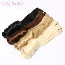 Misswig 15 цветов 18 клип в наращивание волос волна прическа 8 шт./компл. 20 дюймов в длину синтетические волосы высокая температура волокна