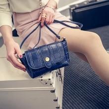 Frauen Messenger Bags Krokodil Marke Handtaschen Weiblichen Beiläufigen Berühmte Schulter Günstige Kupplung Umschlag Taschen Kleine Schwarze Bhoulder Tasche