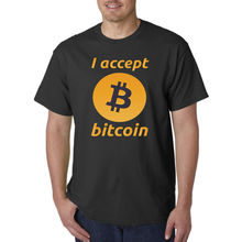 Bitcoin Mining Crypto Currency Accept Funny Cool T-Shirt – Best Birthday Gift Sleeves Boy Cotton Men T-Shirt top tee