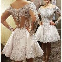 Vestido De Casamento 2 в 1 свадебное платье с кожей Тюль одежда с длинным рукавом Тяжелые Жемчуг Роскошные свадебное платье es халат де mariée 2019