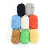O mais baixo Preço 500g Crianças fio de lã Fios De Lã Macia e Quente para Cachecol de tricô Camisola Cor Da Mistura de fios de Bebê Fios de Lã Para Confecção de Malhas